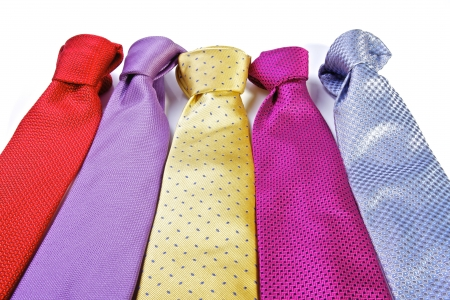 Different bright ties