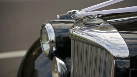 Classic Jaguar with the famous emblem mascot