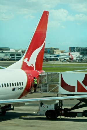 Airport, Qantas airline in Australia