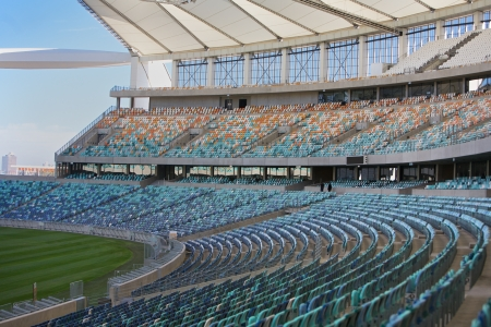 stadium  durban: Inside football stadium in Durban, South Africa Editorial