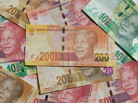 Nieuwe bankbiljetten gedrukt 2012, Zuid-Afrika