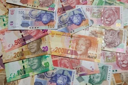 Nieuwe en oude bankbiljetten - gedrukt in Zuid-Afrika Stockfoto