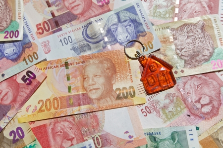 rand: New and old bank notes - printed, Home loan, South Africa.