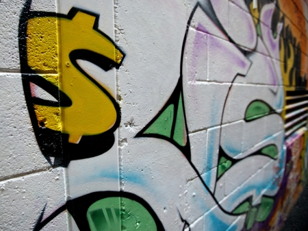 Graffiti, Dollar sign on a wall
