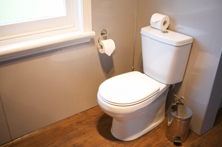 Toilet interior, Hotel Room Stock Photo - 16970941