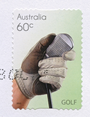 Golf sport stamps printed in Australia