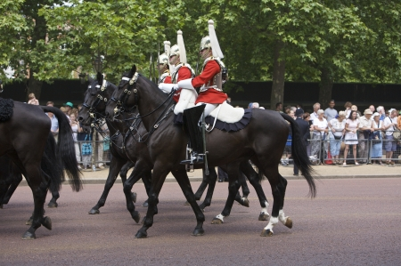 Royal guards in London, 2006