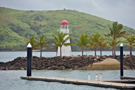 Hamilton Island Harbour Entrance With a Lighthouse Stock Photo - 17050191