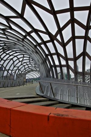 webb: Colourful Architecture in Webb Bridge in Melbourne, Australia