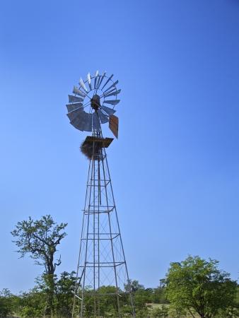 farming tools: Windmill in a rural farm