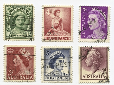 lady diana: Queen Elizabeth, Prince Charles and Lady Diana Spencer StampsAustralia - 1950 - 2000: Queen Elizabeth, Prince Charles and Lady Diana Spencer Assortment of stamps printed in Australia. Different stages of her reign and dates