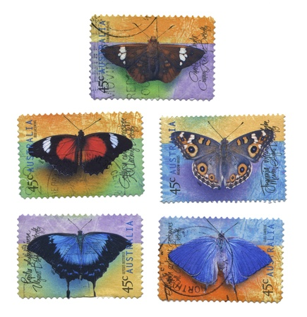 Collection of Butterfly Stamps, Australia photo