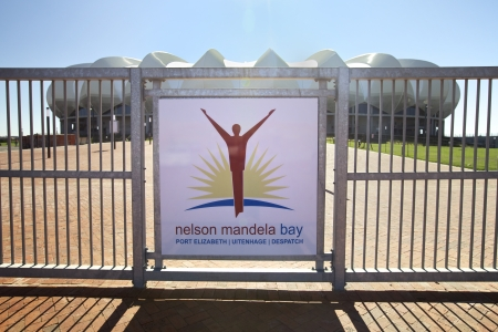 nelson: Building Site of the Official Soccer World cup 2010 Stadium in Port Elizabeth Nelson Mandela Bay Eastern Cape Province South Africa