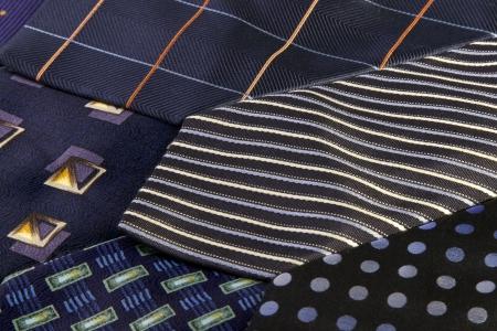 neck ties: Arrangement of assorted men Stock Photo