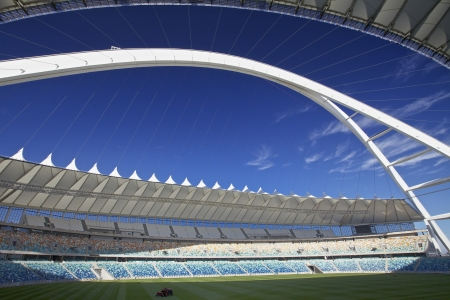 stadium  durban: One of the new Stadiums Built in Preparation for the 2010 Fifa Soccer World cup to be Held in South Africa In the City of Durban the Moses Mabhida Stadium Editorial