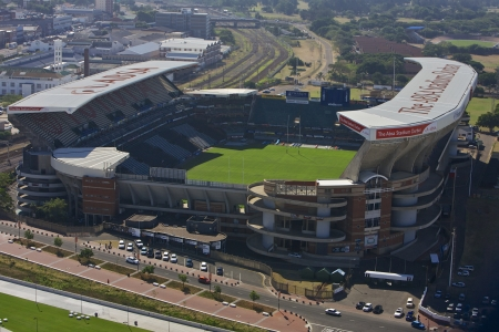 stadium  durban: Overhead View of ABSA Stadium Kings Park Stadium in Durban South Africa  Where most of Rugby games are hosted Photo Taken On  04 April 2010