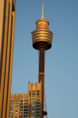AMP Sydney Tower in the City Surrounded by Office Buildings Stock Photo - 27131061