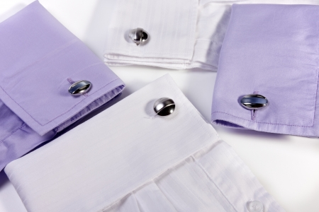 Cufflinks in a Assortment of Shirts Simple Design photo