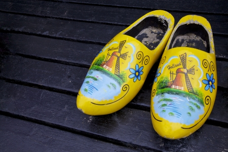 wooden shoes: Wooden clogs shoes, Netherlands, Europe