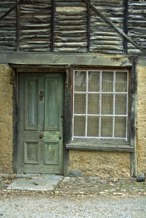 Weathered Green Door  photo
