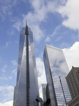 Freedom Tower in lower Manhattan, New York City, USA  Terrorism attacks on October 18, 2011 in Manhattan, NY  Editorial