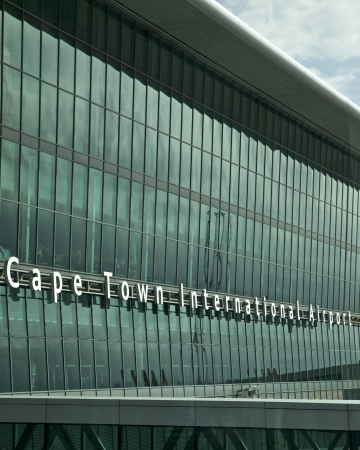 Airport in Cape Town, South Africa
