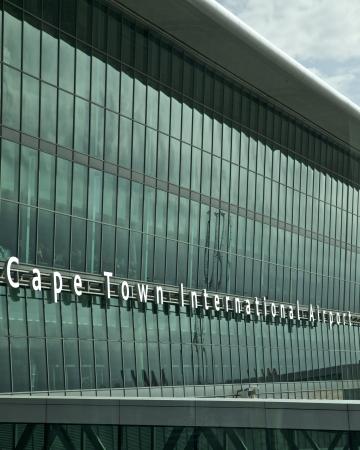 Luchthaven in Kaapstad, Zuid-Afrika