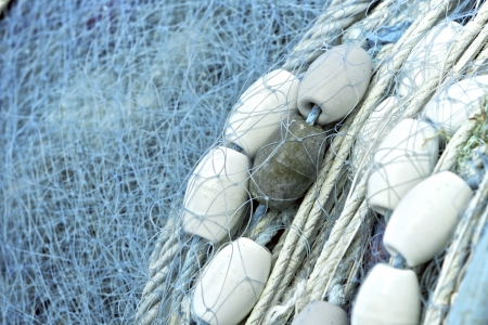 fishing industry: Fishing net, close up view