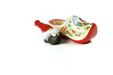 dutch girl: Christmas Festive Season Object Holland Shoe and Decoration Christmas Decoration Figure Stock Photo