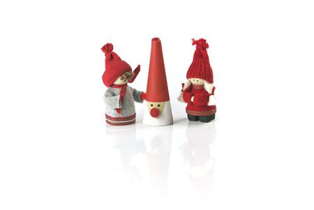 dutch girl: Christmas Festive Season Objects in a row Festive Christmas Object Decoration Figure