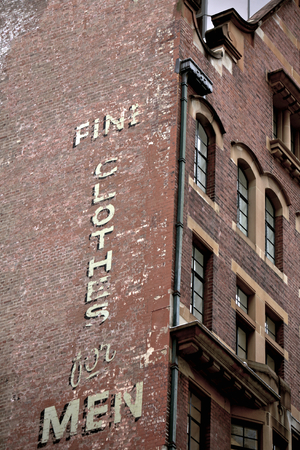 listed buildings: Weathered Brick Building in the City of Sydney, Australia Editorial