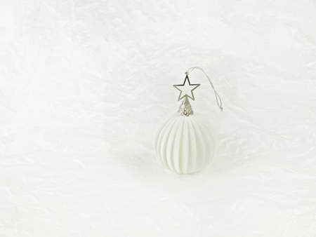 White Christmas Ornament on a White