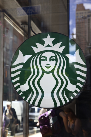 Starbucks Coffee Store, New York, Verenigde Staten Redactioneel