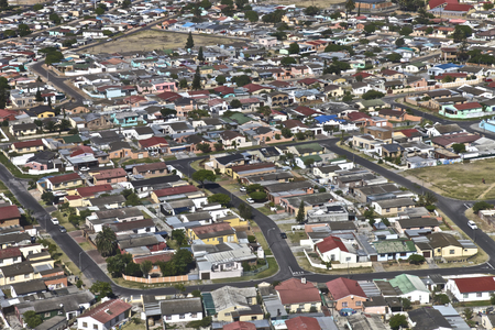 density: Cape Town area view, South Africa Stock Photo