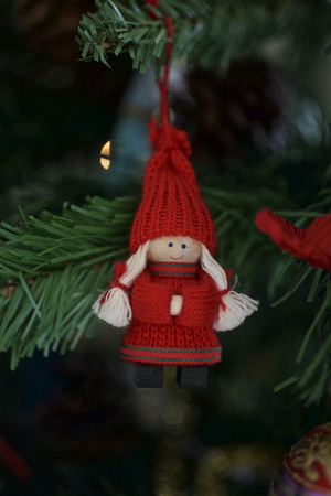 dutch girl: Christmas Decorations in  a tree