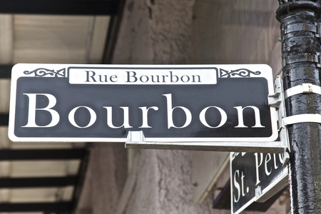 bourbon: Bourbon Street in New Orleans Louisiana USA