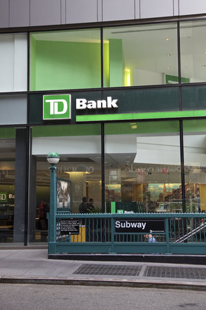 bank building: TD Bank in Manhattan, New York, United States of America Editorial