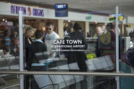 Binnen de internationale luchthaven van Kaapstad, Cape Town, Western Cape, Zuid-Afrika
