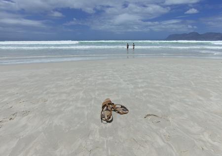 relaxing beach: Beach scene, Cape Town