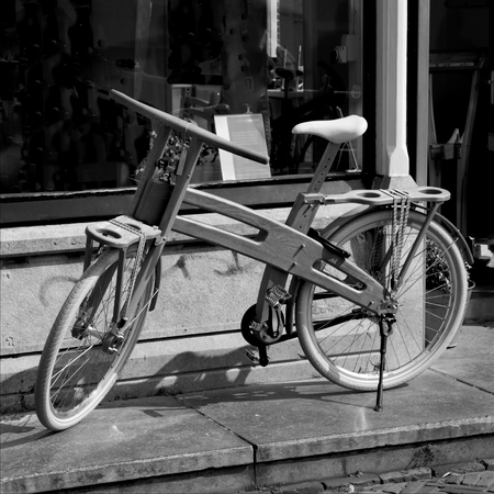 hand crafted: Hand crafted wooden bicycle in Netherlands
