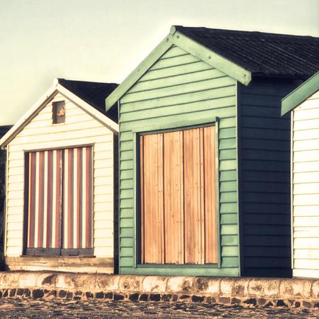 Summer huts in Melbourne, Australia Фото со стока
