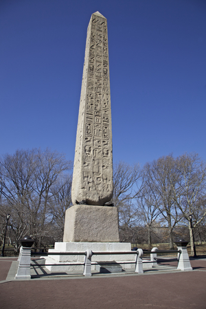 erected: Cleopatras Needle from Egypt a Egyptian obelisks was erected in Central Park on 22 February 1881