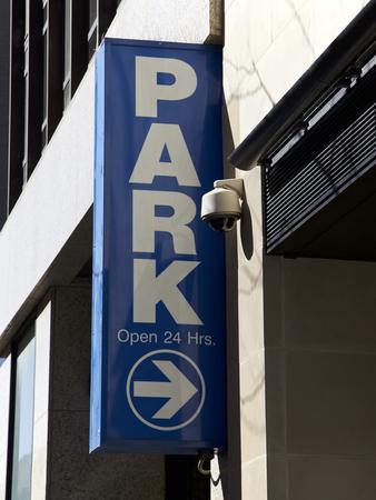 parking lot interior: Parking garage sign, New York City, USA Editorial