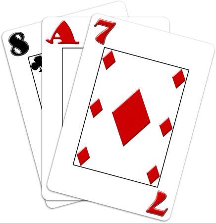 heard: Poker game cards Stock Photo