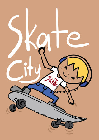 boy skater: skater boy illustration