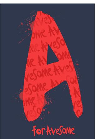 eslogan: Lema fresco de la tipograf�a impresionante, gr�ficos de la camiseta, los vectores