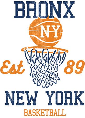 bronx: bronx basketball vintage graphic for t-shirt