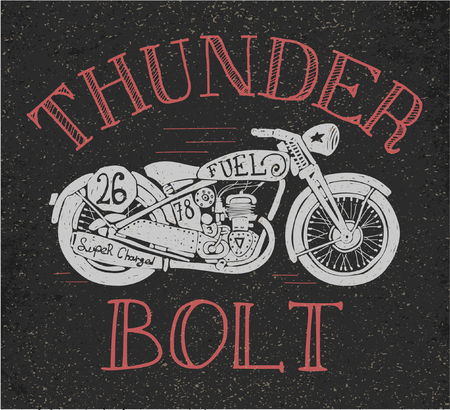 vintage motorcycle design for tee