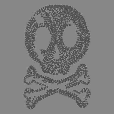 dirty t shirt: funny, Skull black illustration, typography, t-shirt graphics, vectors