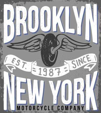brooklyn: brooklyn vintage tee graphic design